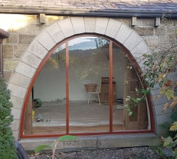 Curved Barn Window