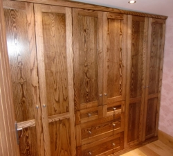 Fitted wardrobes in Ash