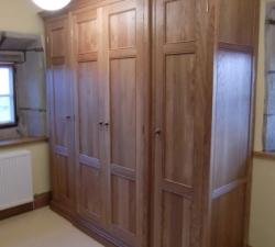 Solid Oak Semi Fitted Wardrobes