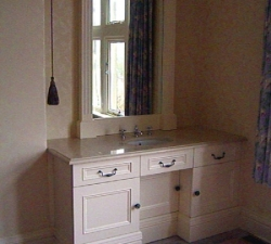 Dressing Table and Framed Mirror