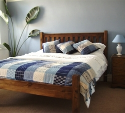 Handcrafted Pine Bed