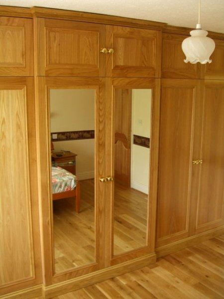 Solid oak fitted wardrobes