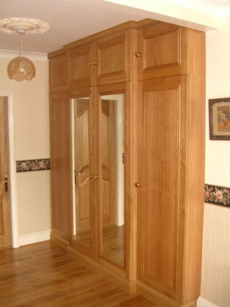 Small solid oak fitted wardrobes