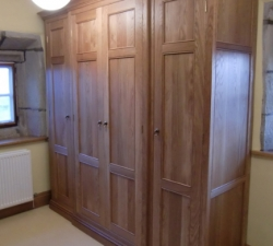 Solid Oak Semi Fitted Wardrobes