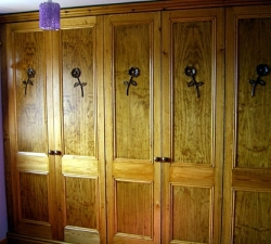 Fitted Wardrobes with Carved Flower Design