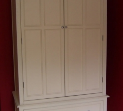 Hand painted traditional free standing wardrobe