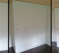 Textured Wooden Sliding Wardrobes