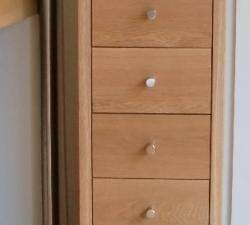 Tall thin Oak drawer unit