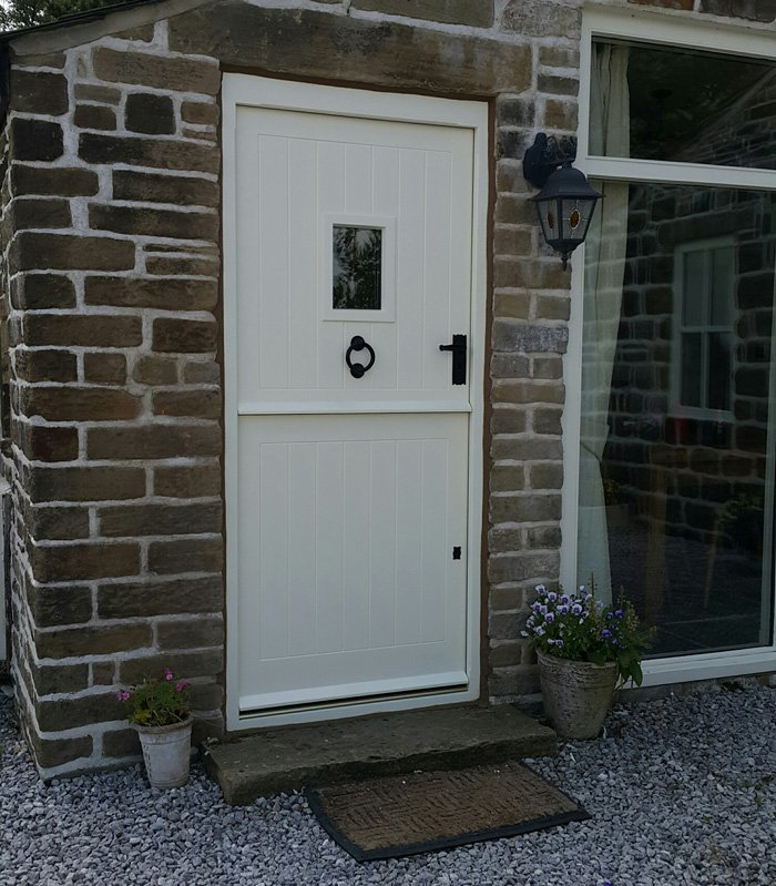 Iroko Hand Painted Stable Door