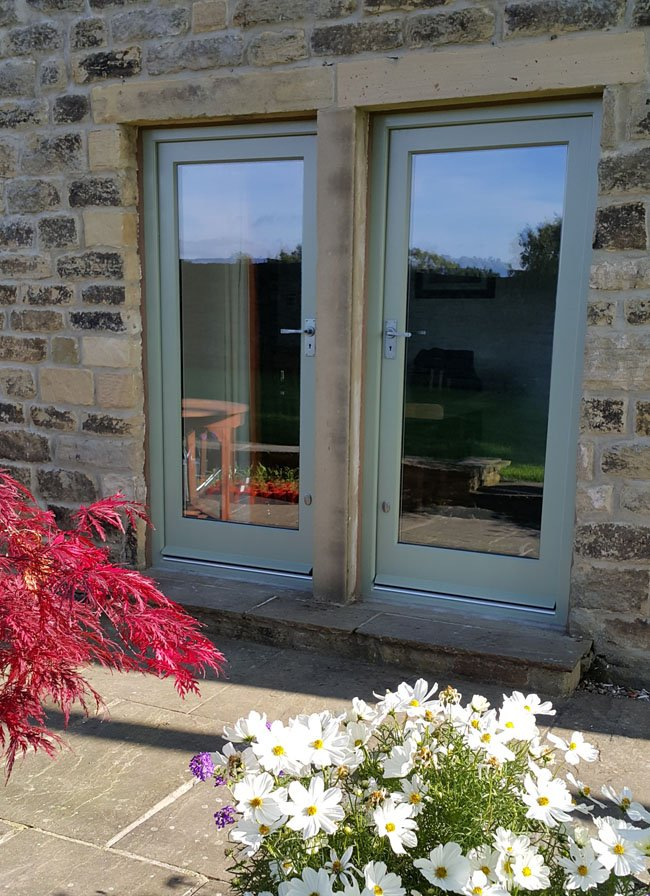 Sapelle Hardwood External Glass Doors