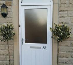 Arched Fanlight Handpainted Door