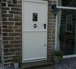 Iroko Hand Painted Stable Door