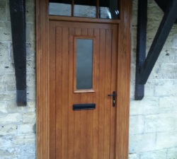 Solid Oak Door with Deep Architrave