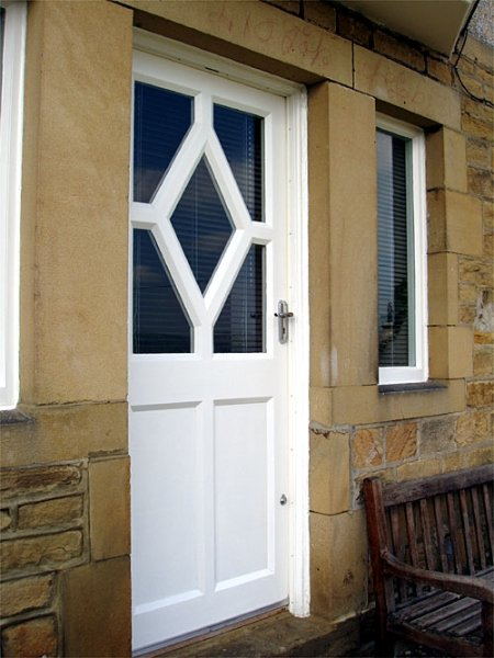 Diamond Shaped Softwood Door