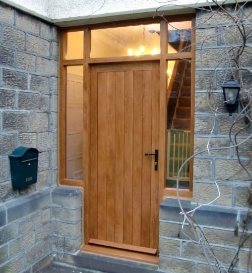 Solid wood doors made to measure near ilkley for Solid oak exterior doors