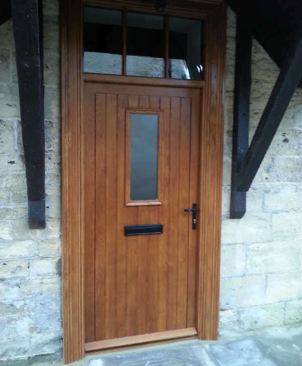 Solid Oak Door with Deep Architrave