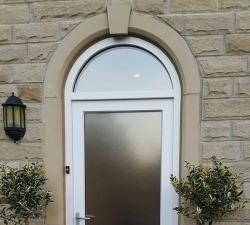 Arched Fanlight Handpainted Door