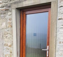 Iroko Full Glass Door