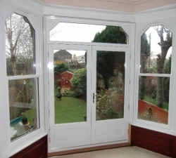 Hardwood Double French Doors