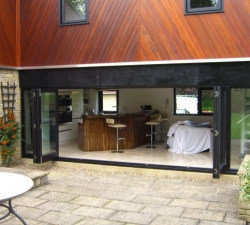 Hardwood Folding Doors Five Door System