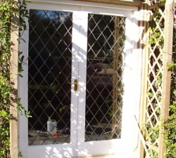 Leaded Glass French Windows