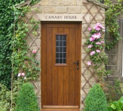 Set of Two Oak Doors