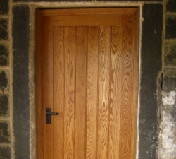 Oak Panelled Door and frame