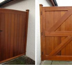 Cedar Ledge and Brace Wooden Garden Gate
