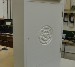 Exterior Wooden Hand Carved Post Box