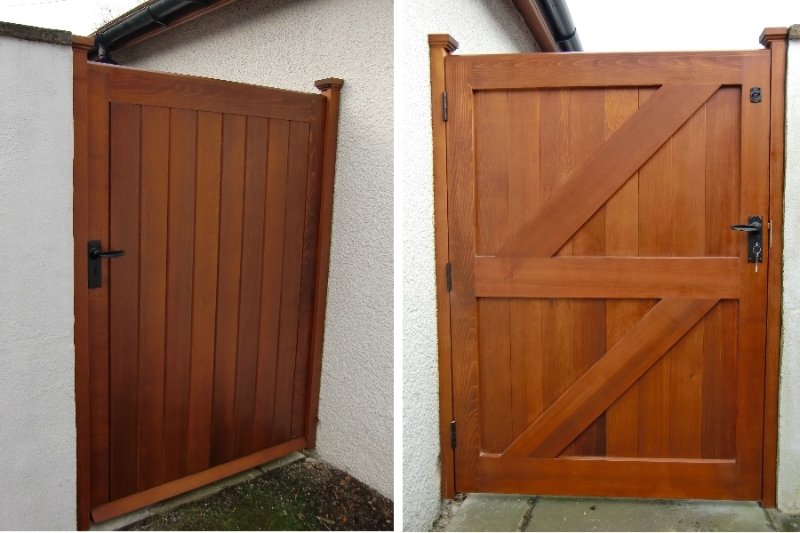 Cedar Ledge and Brace Wooden Garden Gate