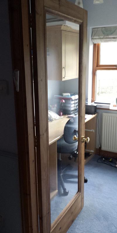Pine Office Glass Door