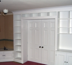 Folding Doors and Surrounding Shelving