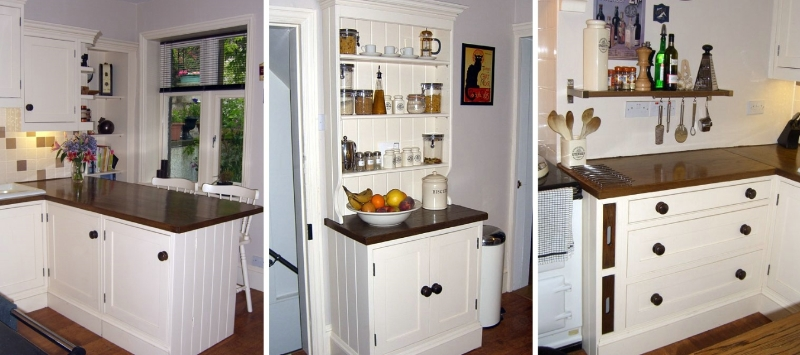 Hand painted shaker style country kitchen