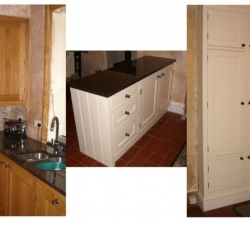 Solid Oak and Hand Painted Kitchen
