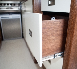 Bespoke kitchen units for a motorhome