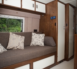 Bespoke bed and wardrobe for a motorhome