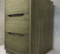 Ash finger pull drawer unit