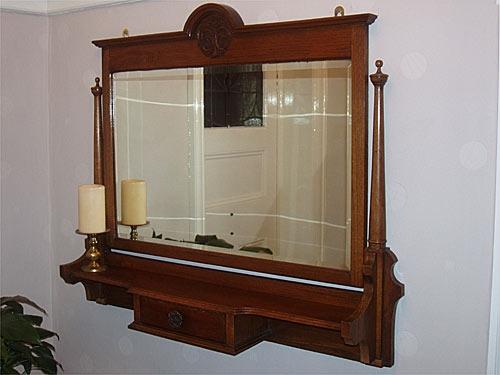 Bevel Edged Wooden Framed Mirror