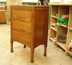 1900's Solid Oak Cabinet