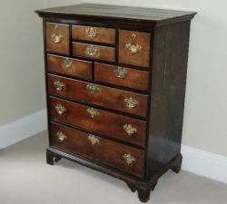 Antique Oak Drawer Unit