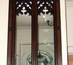 Fretwork Wooden Framed Mirror
