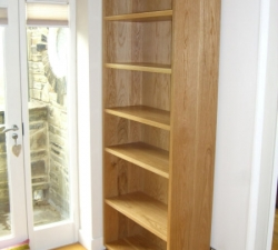 Solid Oak Wooden Bookcase