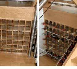 Solid Oak Wooden Wine Rack