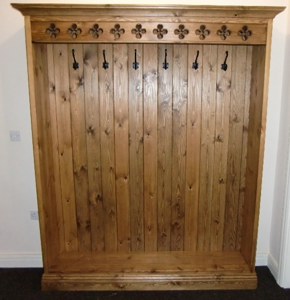 Piered Fretwork Period Wooden Coat Rack
