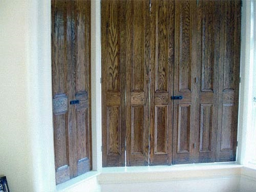 Bespoke interior wooden shutters for windows made to - Unfinished wood shutters interior ...