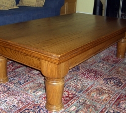 Hand turned Oak coffee table
