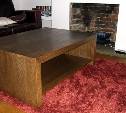 Oak Veneered Coffee Table