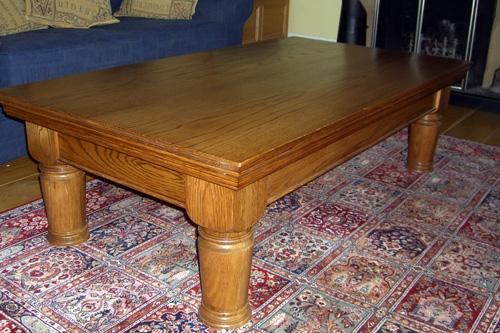 Hand turned Oak coffee table
