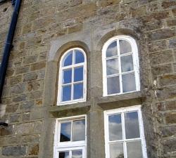 Hardwood Arched Window