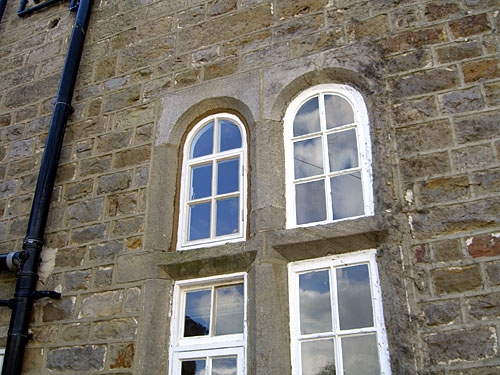 Hardwood Arched Window